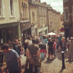 Monthly independent market in Frome, Somerset